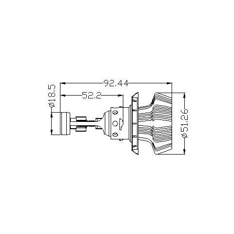 Набір світлодіодного головного світла UP-7HL-H13W-4000Lm (H13, 4000 лм, холодний білий) Прев'ю 4
