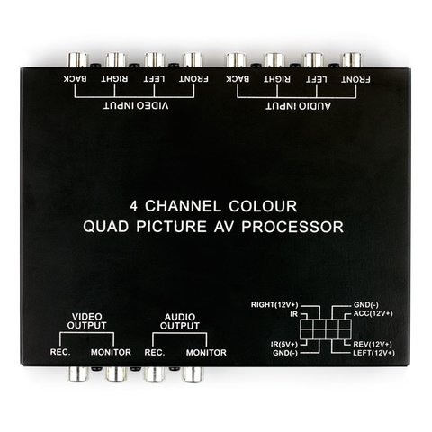 Car 4 Channel Colour Quad Splitter Preview 1
