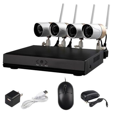 Комплект: мережевий відеореєстратор Wanscam HL0162 та 4 безпровідних IP-камер спостереження Прев'ю 5