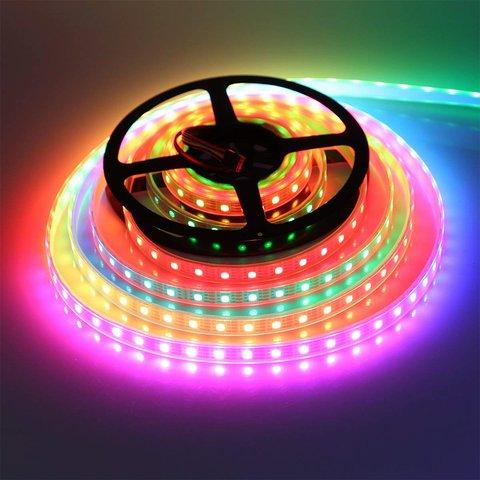 Світлодіодна стрічка RGB SMD5050, WS2815 (чорна, з управлінням, IP20, 12 В, 60 діодів/м, 5 м) Прев'ю 2