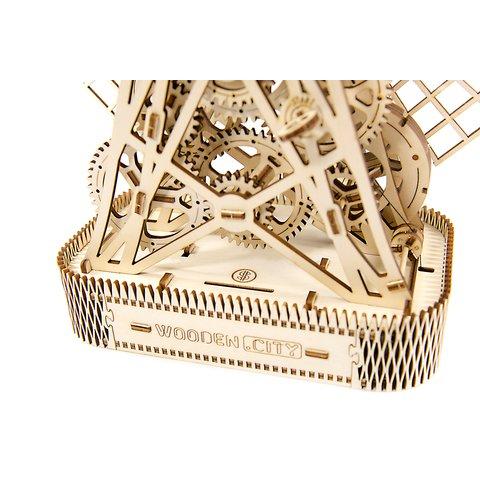 Деревянный механический 3D-пазл Wooden.City Мельница Превью 6