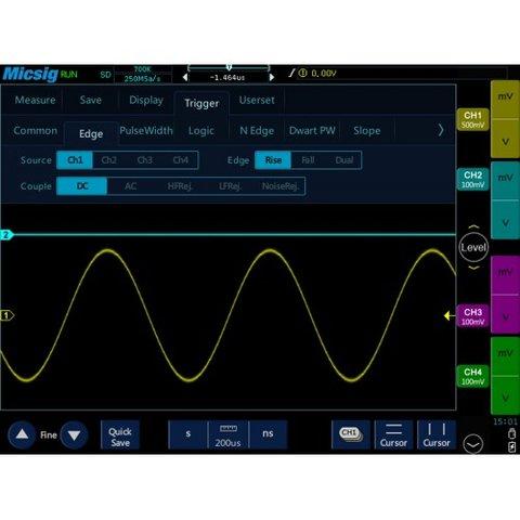 Планшетный цифровой осциллограф Micsig TO1104 - Просмотр 6