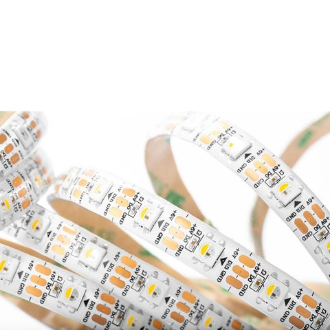 RGBWW LED Strip SMD5050, SK6812 (white, with controls, IP20, 5 V, 60 LEDs/m, 1 m) Preview 2
